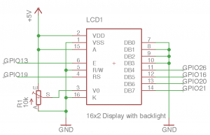 Schematic LCD-Display